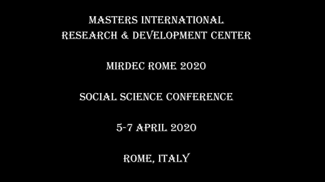 MIRDEC Rome 2020