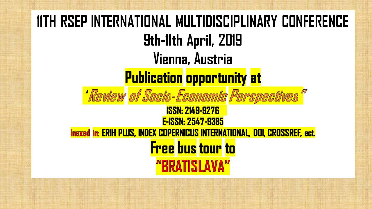 RSEP Vienna Conference - April 2019