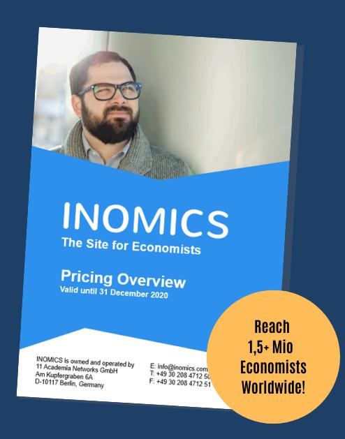 INOMICS Pricing Overview