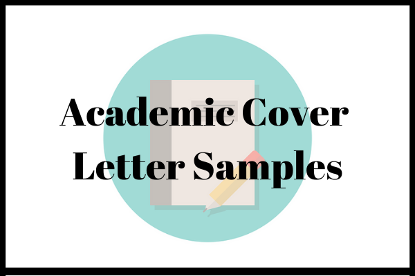 Academic Cover Letter Samples | INOMICS