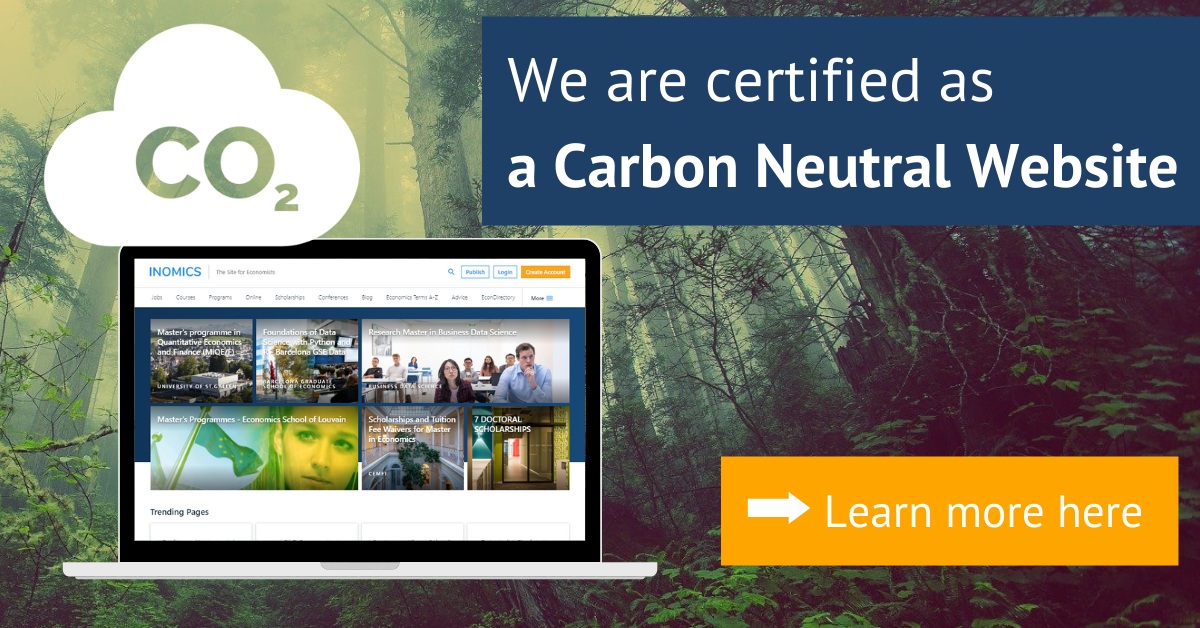 INOMICS certified as a Carbon Neutral Website