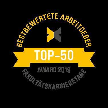 Bestbewertete Arbeitgeber Top 50 - 2019