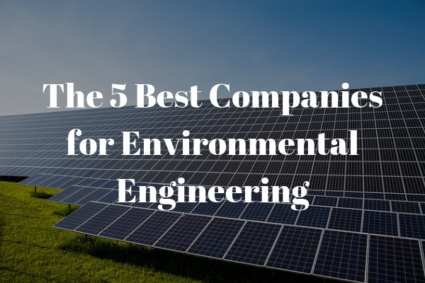 Top 5 Companies for Environmental Engineers to Work For