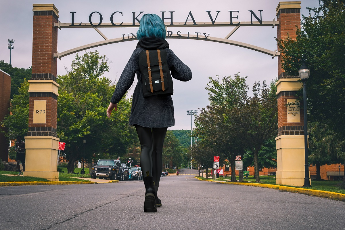 Me at Lock Haven University. Just traveller stuff here.