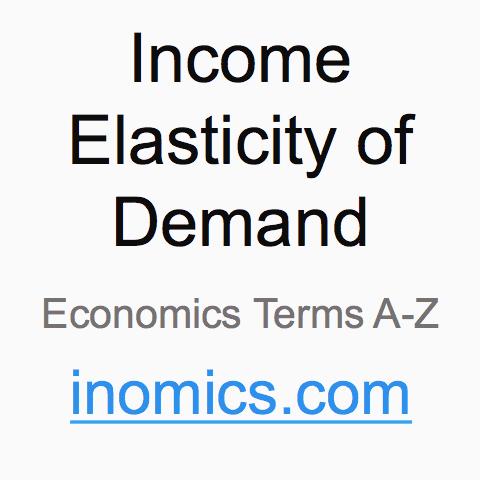 Income Elasticity Of Demand Definition Inomics