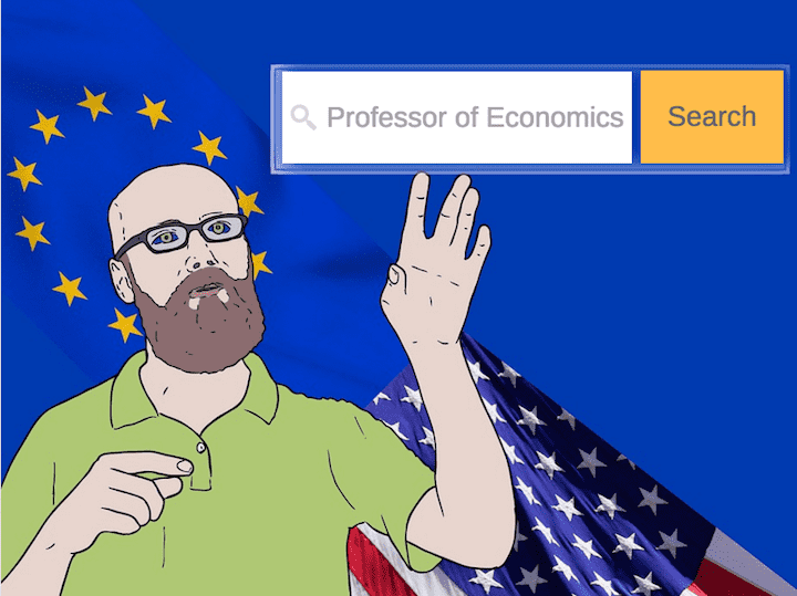 Where To Pursue an Academic Career as an Economist: USA vs Europe