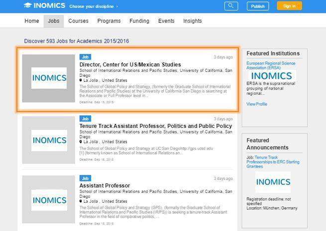 Inside INOMICS - How do we decide what to show on the INOMICS website?