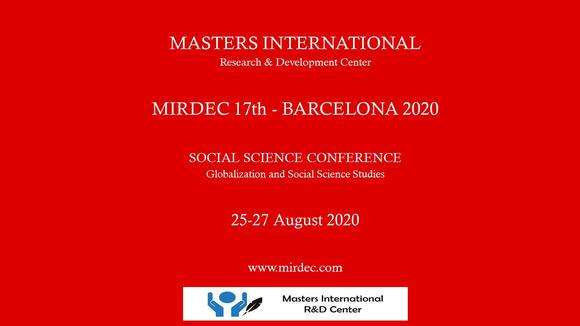 MIRDEC-17th Barcelona, Social Science Conference
